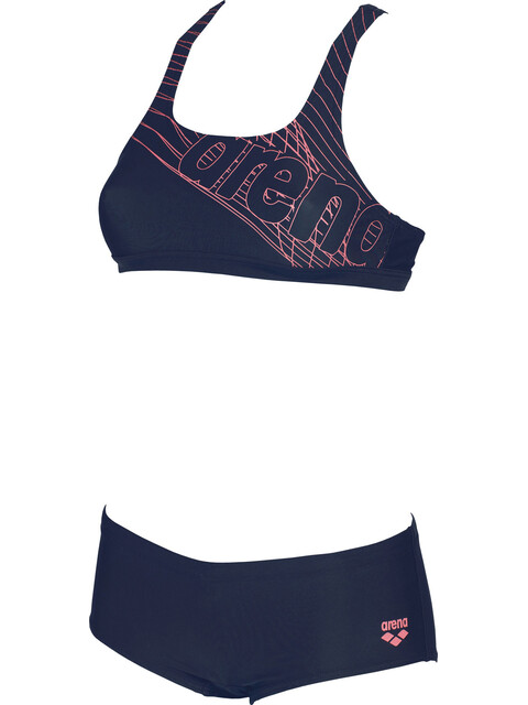 arena Altair Two-Pieces Swimsuit Women navy-shiny pink